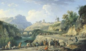 The Construction of a Road 1774 by Claude Joseph Vernet