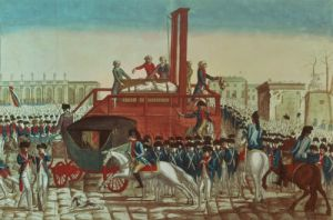 Execution of Louis XVI 1793 by French School