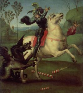 St. George Struggling with the Dragon c.1505 by Raphael