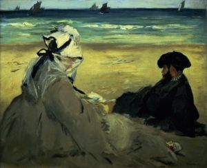 On the Beach 1873 by Edouard Manet