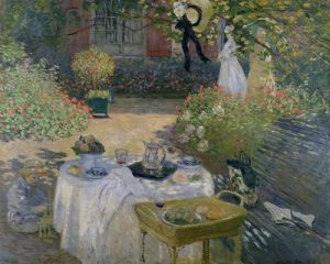 The Luncheon' Monet's garden at Argenteuil c.1873 by Claude Monet
