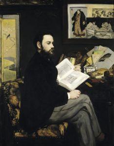 Portrait of Emile Zola 1868 by Edouard Manet