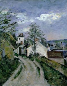Doctor Gachet's house at Auvers c.1873 by Paul Cezanne