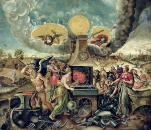 The Forges of Vulcan by Flemish School
