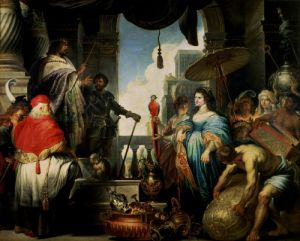 Solomon and the Queen of Sheba by Erasmus Quellinus