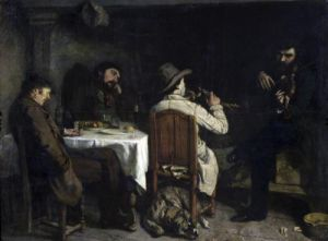 After Dinner at Ornans 1848 by Gustave Courbet