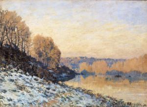 Port-Marly White Frost 1872 by Alfred Sisley