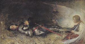 Joan of Arc Asleep 1895 by George William Joy