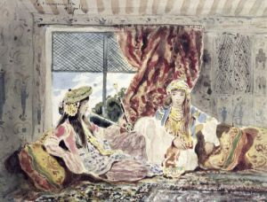 Tripoli a Harem by Charles Emile Callande de Champmartin