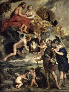 Henri IV Receiving the Portrait of Marie de Medici by Peter Paul Rubens