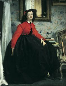 Portrait of Mlle. L.L. 1864 by James Jacques Joseph Tissot