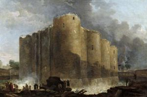 Demolition of the Bastille 1789 by Hubert Robert