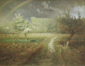 Spring at Barbizon 1868 by Jean Francois Millet