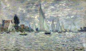 Regatta at Argenteuil c.1874 by Claude Monet
