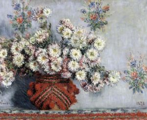 Chrysanthemums 1878 by Claude Monet