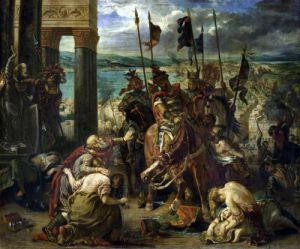 The Crusaders entry into Constantinople 1840 by Eugene Delacroix