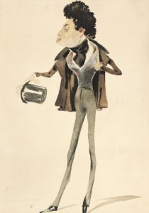 Caricature of Alexander Dumas Pere by Pierre Luc Charles Ciceri