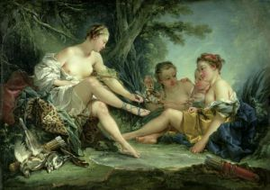 Diana after the Hunt 1745 by Francois Boucher