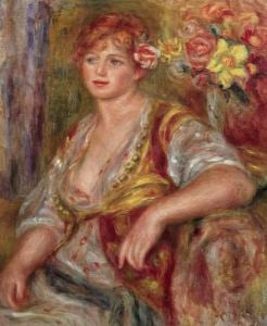 Blonde Woman with a Rose c.1915 by Pierre Auguste Renoir