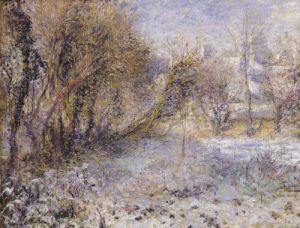 Snowy Landscape by Pierre Auguste Renoir
