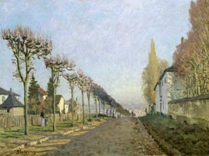 Rue de la Machine Louveciennes 1873 by Alfred Sisley