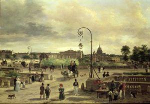 La Place de la Concorde in 1829 by Guiseppe Canella