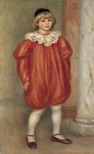Claude Renoir in a Clown Costume 1909 by Pierre Auguste Renoir
