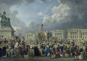 An Execution Place de la Revolution 1794 by Pierre Antoine Demachy
