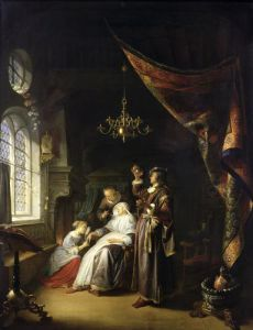 The Dropsical Woman c.1663 by Gerrit Dou