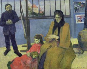 The Schuffenecker Family 1889 by Paul Gauguin