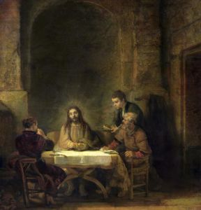 The Supper at Emmaus 1648 by Rembrandt
