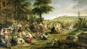 The Kermesse c.1635 by Peter Paul Rubens