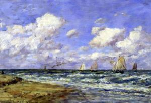 Marine scene 1894 by Eugene Louis Boudin