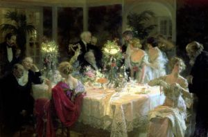 The End of Dinner 1913 by Jules Grun