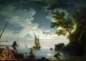 Seascape Moonlight 1772 by Claude Joseph Vernet