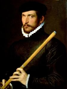 The One-Eyed Flautist 1566 by French School