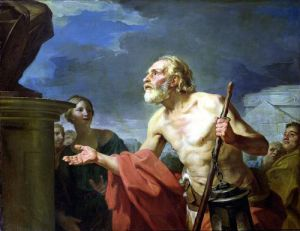 Diogenes Asking for Alms 1767 by Jean Bernard Restout