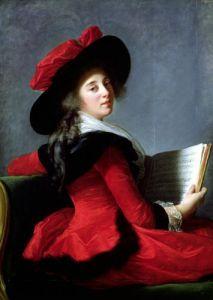 La Baronne de Crussol 1785 by Marie Elisabeth Louise Vigee-Lebrun