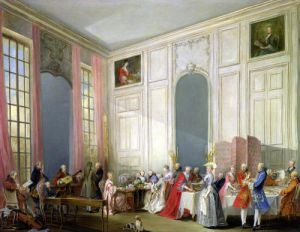 The English Tea 1766 by Michel Barthelemy Olivier