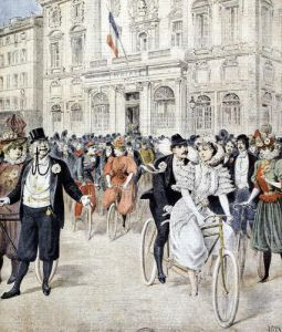 A Wedding on a Bicycle by Henri Meyer