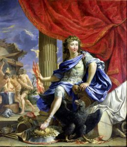 Louis XIV as Jupiter Conquering the Fronde 1648 by Charles Francois Poerson