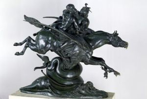 Ruggiero and Angelica by Antoine Louis Barye