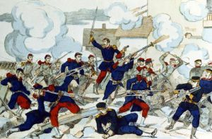 General Ducrot at the Battle of Champigny 1870 by French School