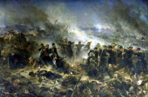 The Gervais Battery at the Siege of Sebastopol 1855 by Alphonse Marie de Neuville