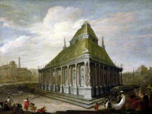 The Seven Wonders of the World 'The Mausoleum at Halicarnassus' by Wilhelm van Ehrenberg