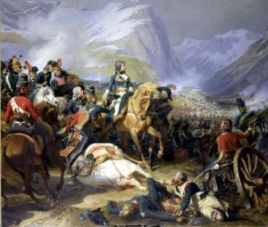 The Battle of Rivoli 1844 by Felix Philippoteaux