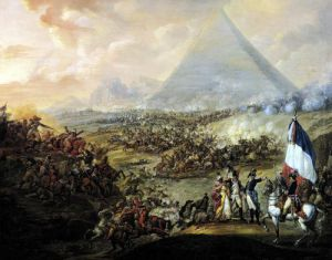 Battle of Pyramids 1798 by Francois Louis Joseph Watteau