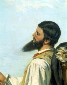 La Rencontre or Bonjour Monsieur Courbet, 1854 (Detail) by Gustave Courbet