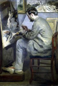 Frederick Bazille at his Easel 1867 by Pierre Auguste Renoir