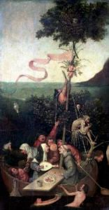 The Ship of Fools c.1500 by Hieronymus Bosch